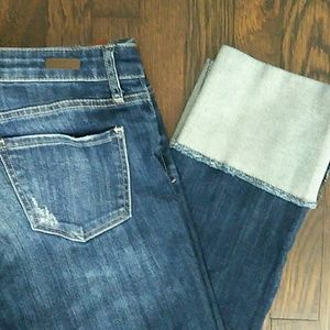 Kut from the cloth Cameron straight cuffed jean
